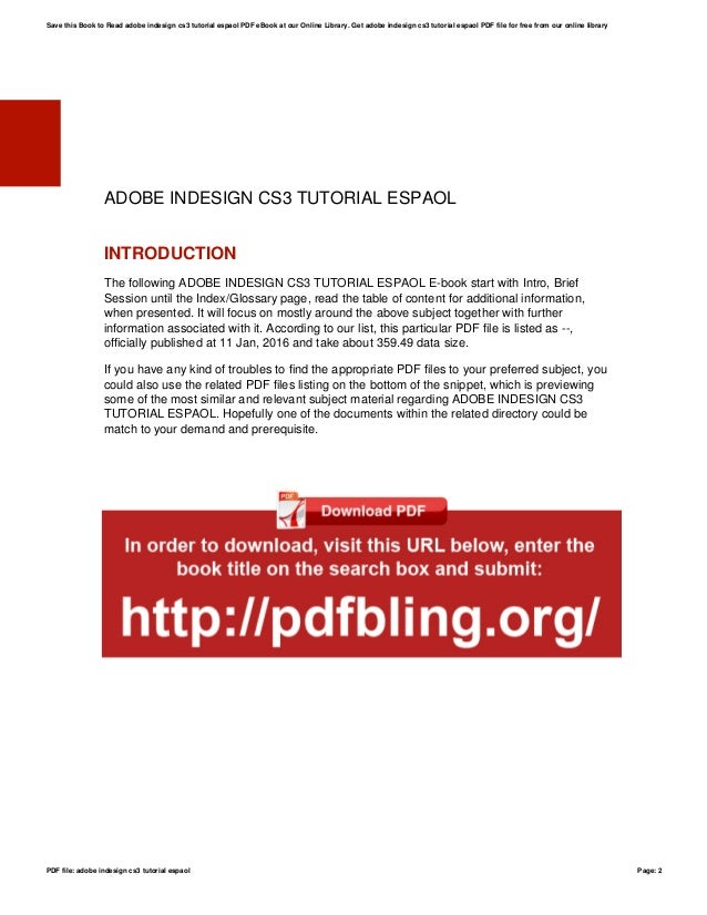 official indesign cs3 manual
