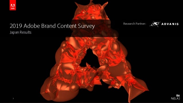 © 2016 Adobe Systems Incorporated. All Rights Reserved. Adobe Confidential. 2019 Adobe Brand Content Survey Japan Results ...