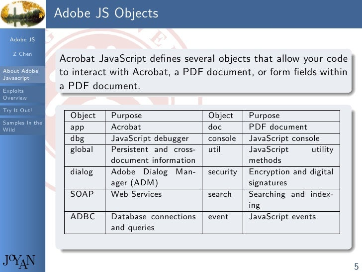 Leveraging Adobe JavaScript Virtual Machine