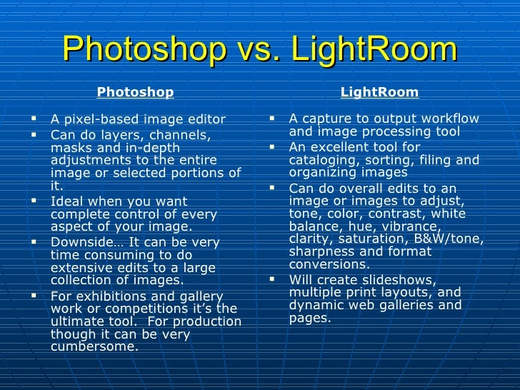 ... Christopher Moore; 3. Photoshop Vs. LightRoom ...