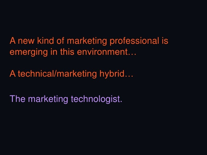 Mission #2Help the CMOtranslate strategyinto technology(and vice versa).-   Prepare the CMO-   Map tech & business-   Driv...