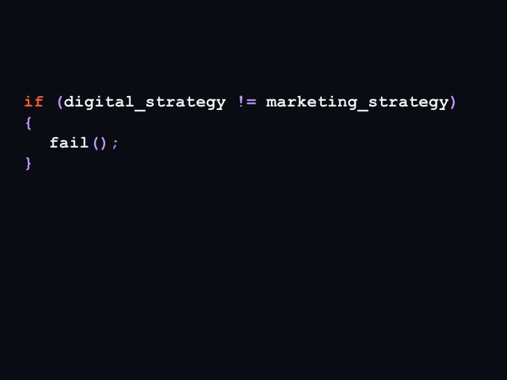 A digital strategist modern marketer must befluent in using technology.But not necessarily building it.