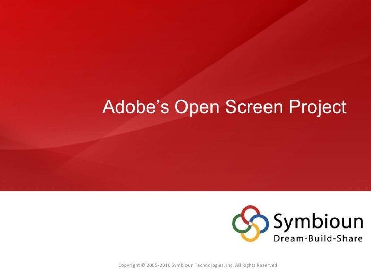 Adobe's Open Screen Project<br />