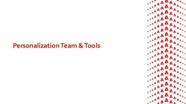 PersonalizationTeam &Tools