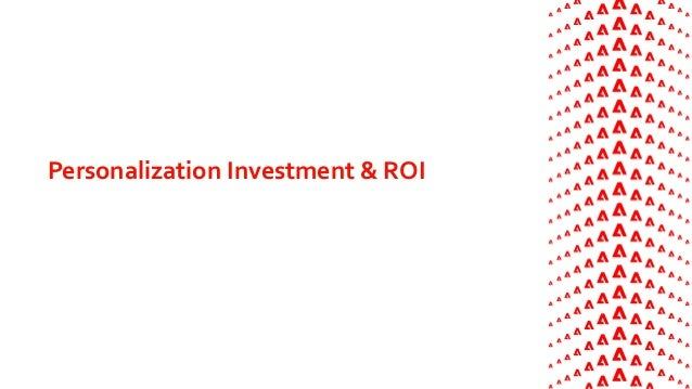 Personalization Investment & ROI