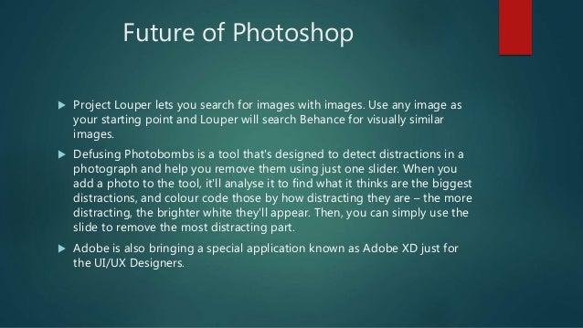 Future of Photoshop  Project Louper lets you search for images with images. Use any image as your starting point and Loup...