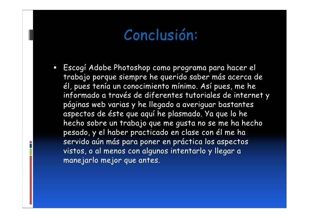 Adobe photoshop power point for Conclusion de un vivero