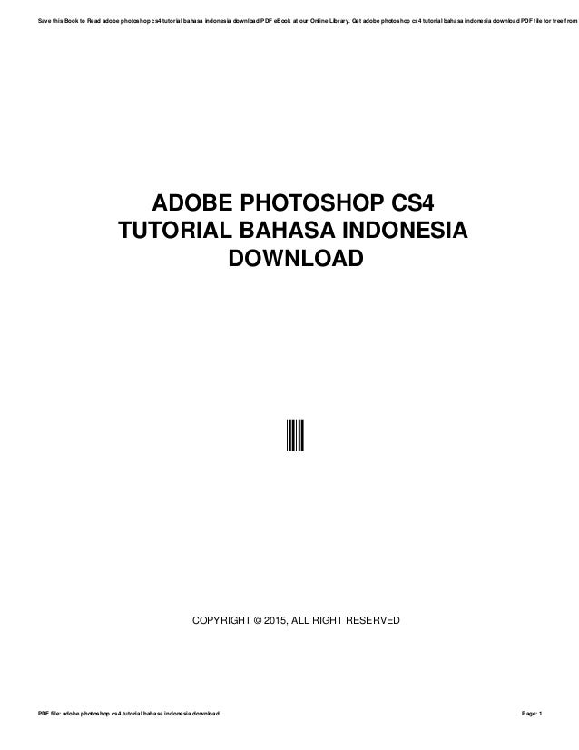 Indonesia free download cs4 bahasa ebook photoshop