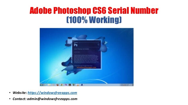 adobe photoshop cs6 extended serial number free