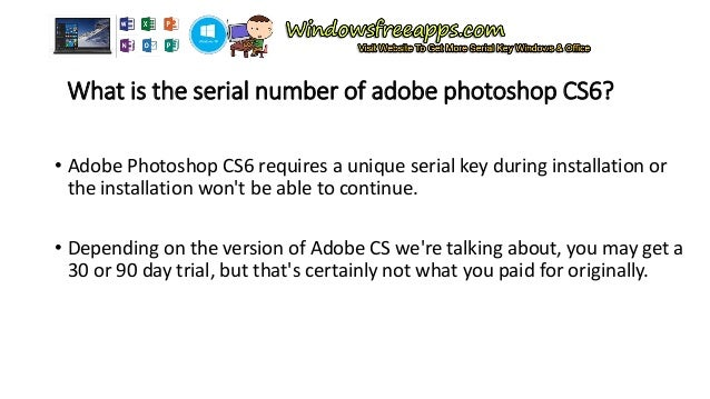 photoshop cs6  serial key