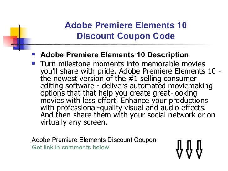 Greatly discounted price adobe premiere elements 9