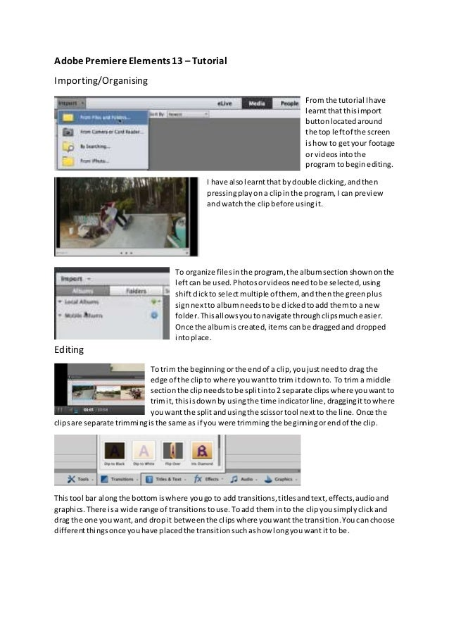 Adobe premiere elements 13 adobe premiere elements 13 tutorial importingorganising from the tutorial i have learnt that ccuart Image collections