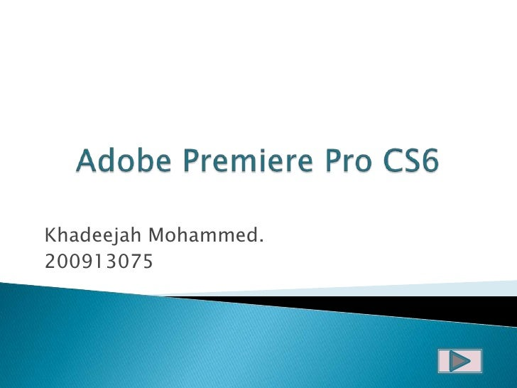 Adobe premiere pro cs6 mpeg 2 codec download for Adobe premiere pro slideshow templates