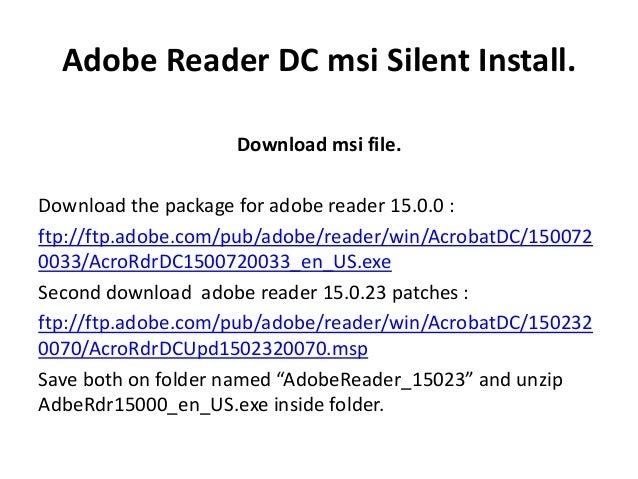 adobe reader dc install