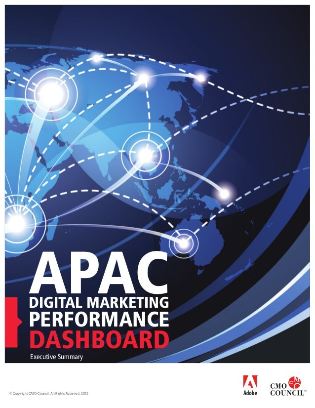 APAC  DIGITAL MARKETING  performance  DASHBOARD Executive Summary  © Copyright CMO Council. All Rights Reserved. 2012