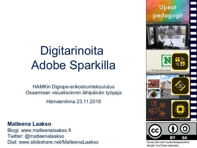 Digitarinoita Adobe Sparkilla HAMKin Digiope-erikoistumiskoulutus Osaamisen visualisoinnin lähipäivän työpaja Hämeenlinna ...