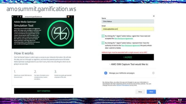 © 2015 Adobe Systems Incorporated. All Rights Reserved. Adobe Confidential. amosummit.gamification.ws