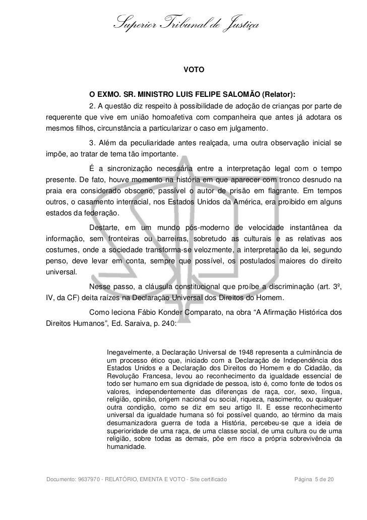 Superior Tribunal de Justiça                                                VOTO               O EXMO. SR. MINISTRO LUIS F...