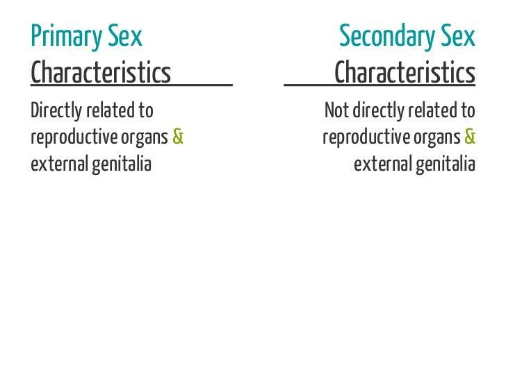 Primary Sex              Secondary SexCharacteristics          CharacteristicsDirectly related to     Not directly related...