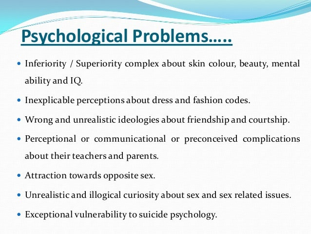 Psycology sex issues