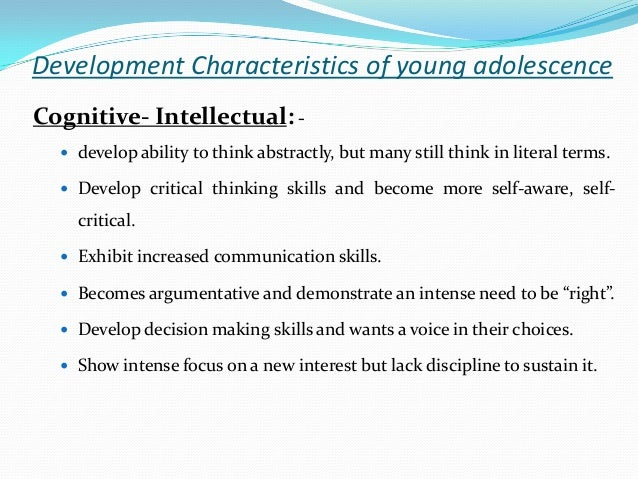 essays on cognitive development in adolescence Adolescence development essay 886 words | 4 pages adolescence is a period of physical and psychological development from the onset of puberty to maturity.