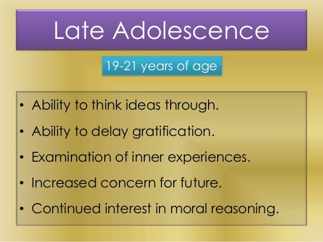 adolescence as a stage of life course According to arnett (2004), early adulthood is characterized by a lack of institutional benchmarks as stated previously, the end of high school (generally at age 17 in canada) represents an institutional transition between two life stages: adolescence and early adulthood which corresponds to the transition to either education.