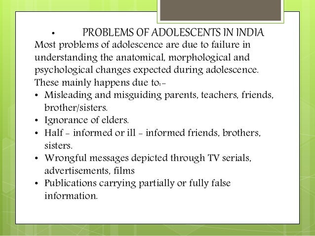 adolenses and problem Many menstrual conditions affect adolescent girls & require the care of a  physician  treatment learn the treatment options for menstrual problems.
