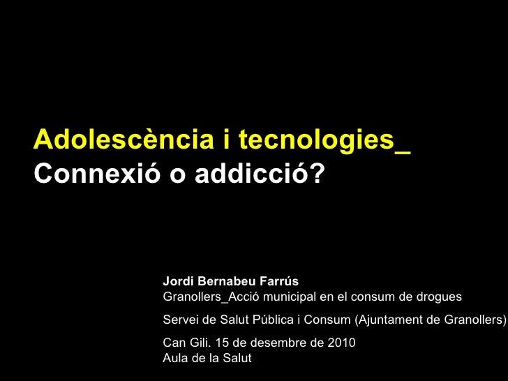 Jordi Bernabeu Farrús Granollers_Acció municipal en el consum de drogues Servei de Salut Pública i Consum (Ajuntament de G...