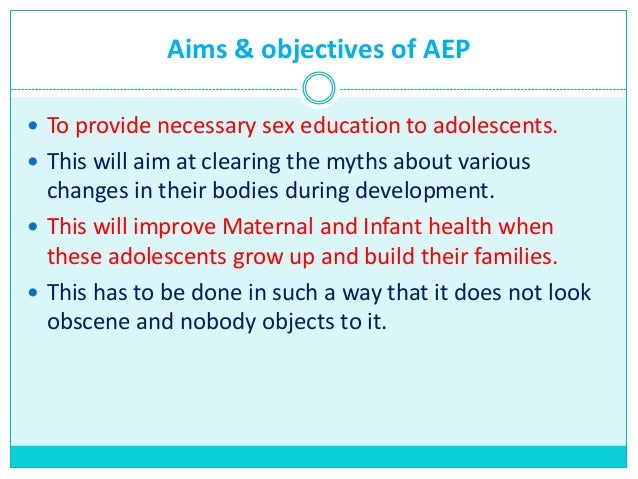Aims of sex education
