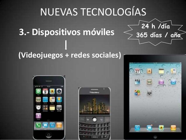 NUEVAS TECNOLOGÍAS                                  24 h /día3.- Dispositivos móviles         365 días / año(Videojuegos +...
