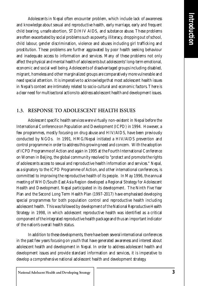 Adolescent health strategy
