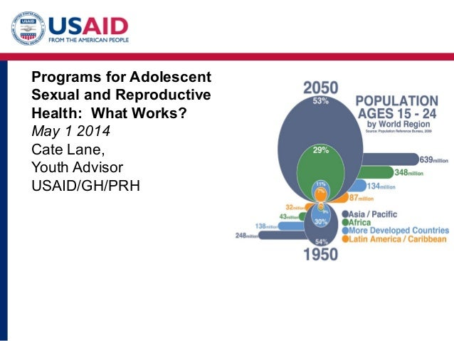 Programs for Adolescent Sexual and Reproductive Health: What Works? May 1 2014 Cate Lane, Youth Advisor USAID/GH/PRH