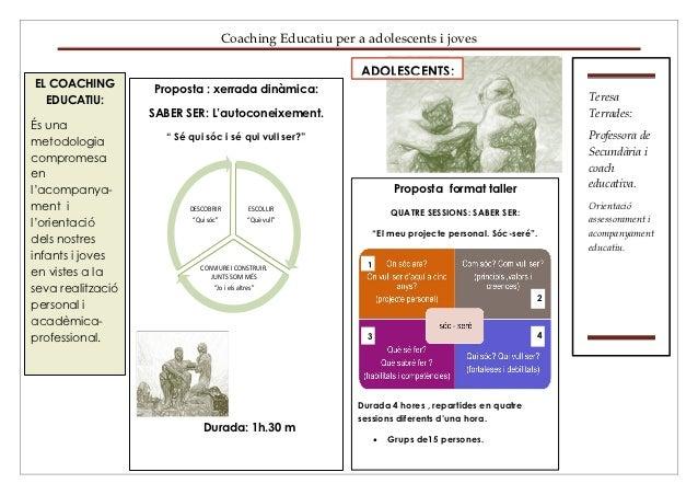 Coaching Educatiu per a adolescents i joves                                                              ADOLESCENTS:EL CO...