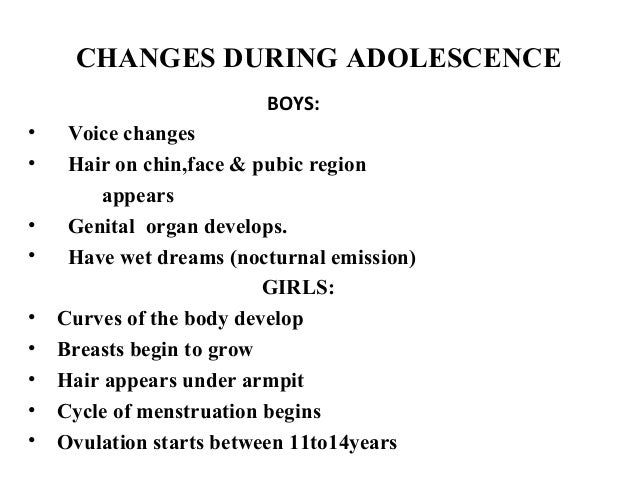 changes during adolescence Adolescents go through many physical changes watch this lesson to find out  some of the physical developments that happen during adolescence.