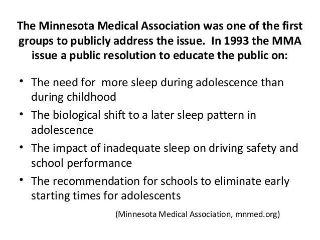 Adolescent Sleep Research