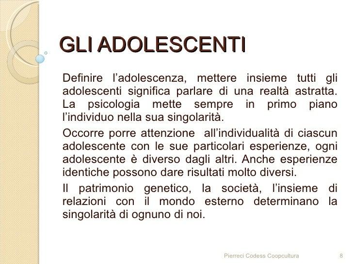 definizione di adolescenza
