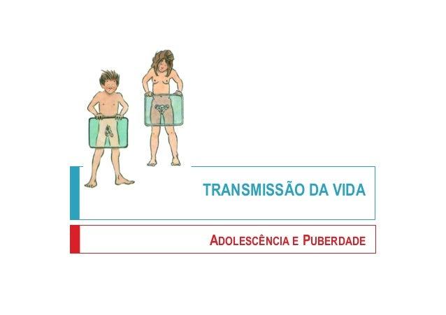 TRANSMISSÃO DA VIDA ADOLESCÊNCIA E PUBERDADE