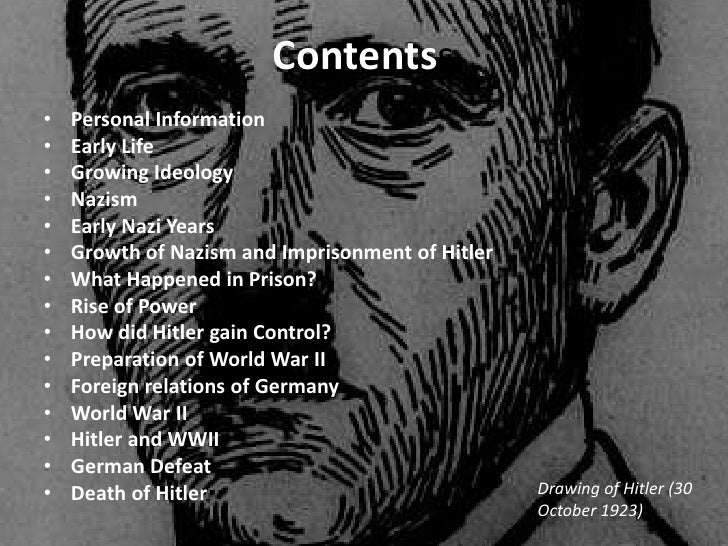 Adolf hitler early life ideas actions essay