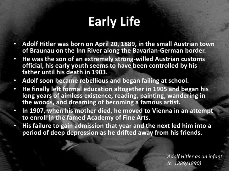 the early life and journey of adolf hitler to power Intro lesson about adolf hitler's early life pupils can design a facebook page based on his early life and rise to power to gain a brief insight into hitler the lesson also then covers the factors that enabled the nazi party to secure more votes and hitler to rise to power with worksheets to support.