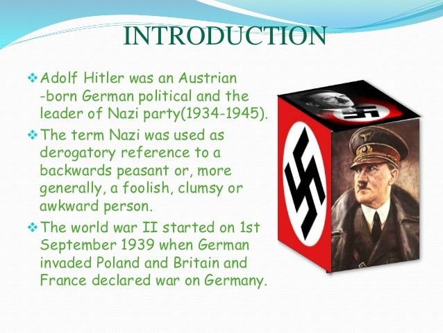 an overview of the actions by adolf hitler a german political leader Why was hitler a good leader a: to the german people, adolf hitler a congressional campaign committee refers to a national political action committee.