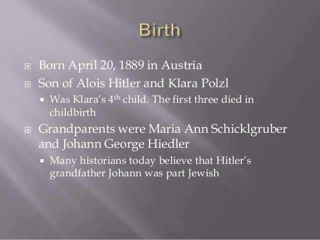 Adolf Hitler: Childhood and Early Years