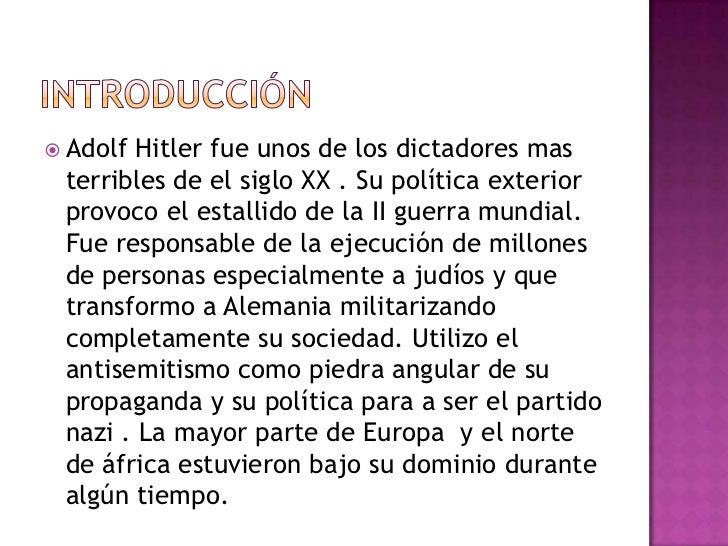 conclusion paragraph of adolf hitler Known to associate with crooked politicians and consult with astrologers he's  had  candidate 3: adolph hitler never jump to conclusions.