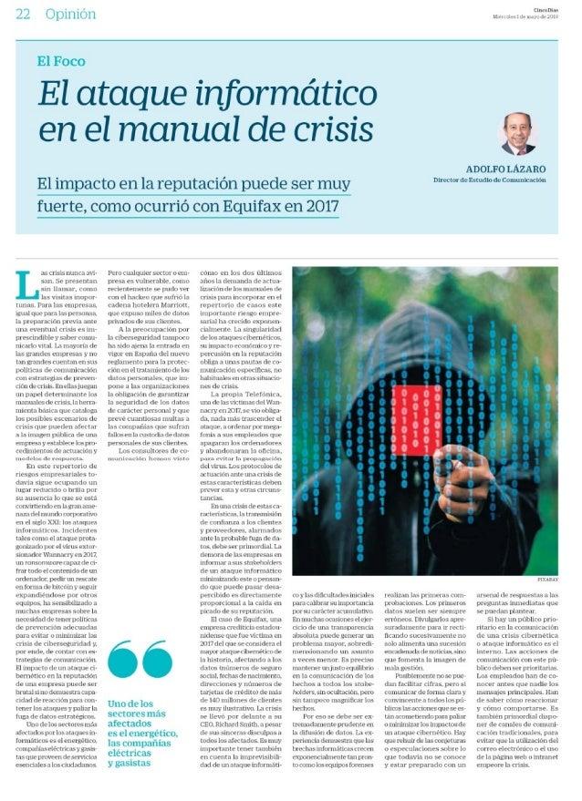 El ataque informático en el manual de crisis