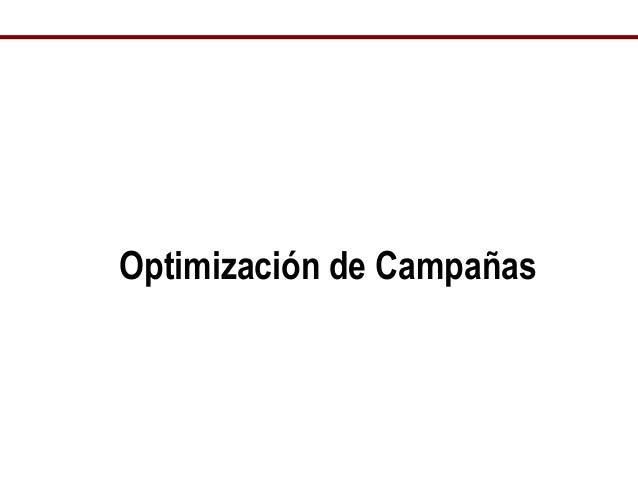 Optimización de Campañas
