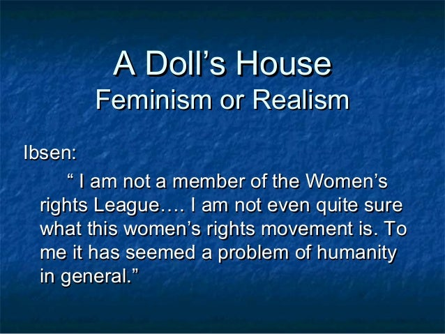 Ibsen doll house essay