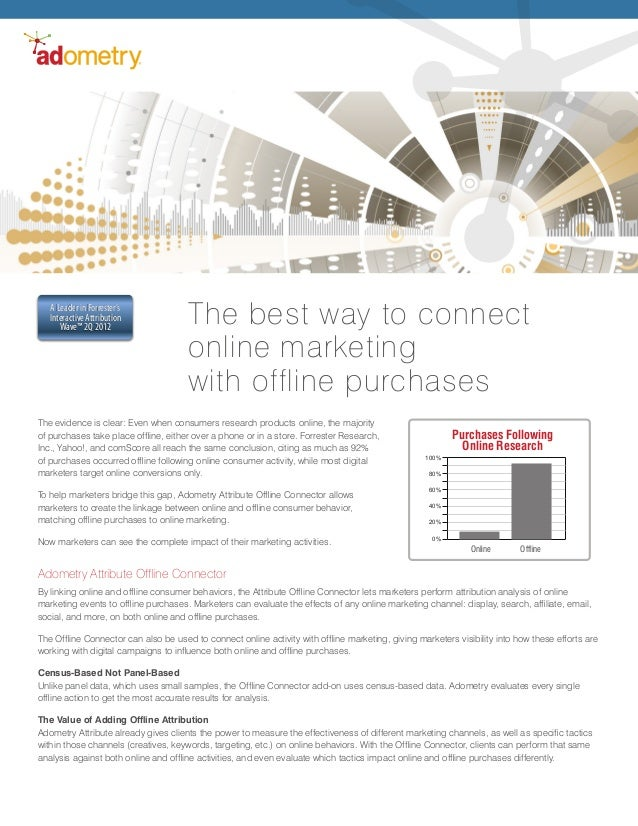The evidence is clear: Even when consumers research products online, the majorityof purchases take place offline, either o...