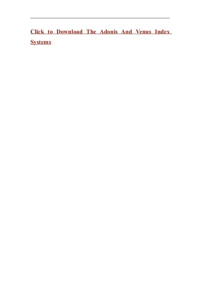 Adonis index pdf the