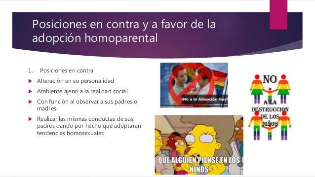 Debate encontra de la adopcion homosexual