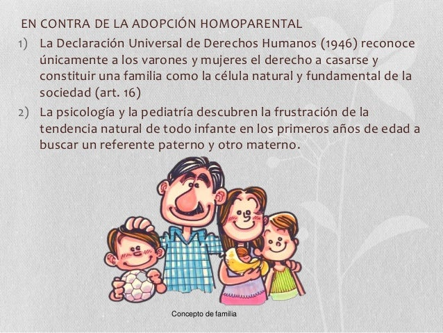 Adopcion en parejas homosexual argumentos en contra