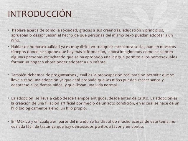 Debate sobre la adopcion homosexual en chile